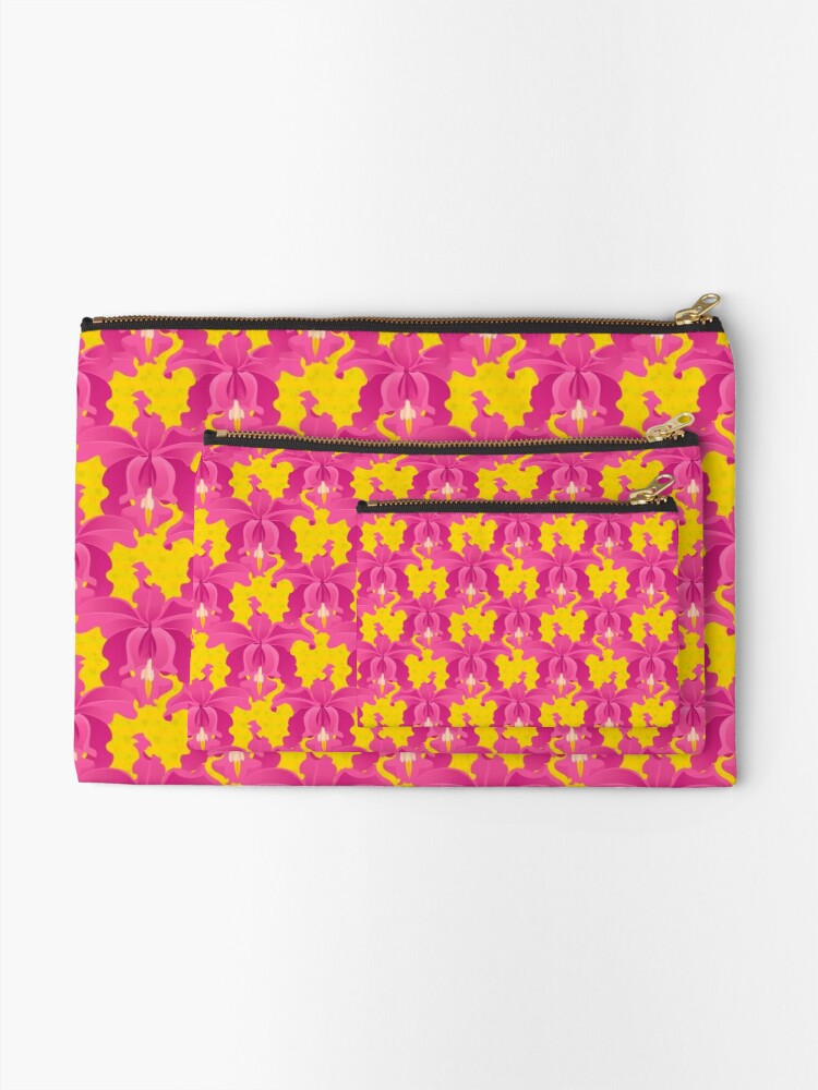 Alternate view of Pink Orchids Zipper Pouch