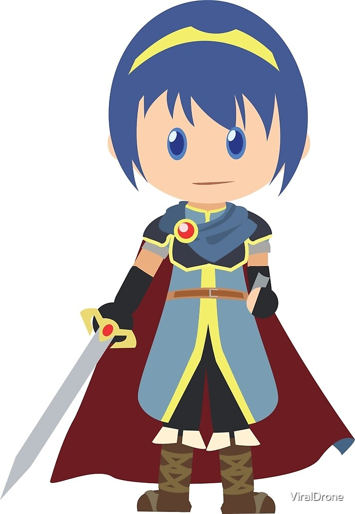 Chibi Marth Vector by ViralDrone