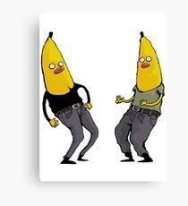 bananas in regular clothing Canvas Print