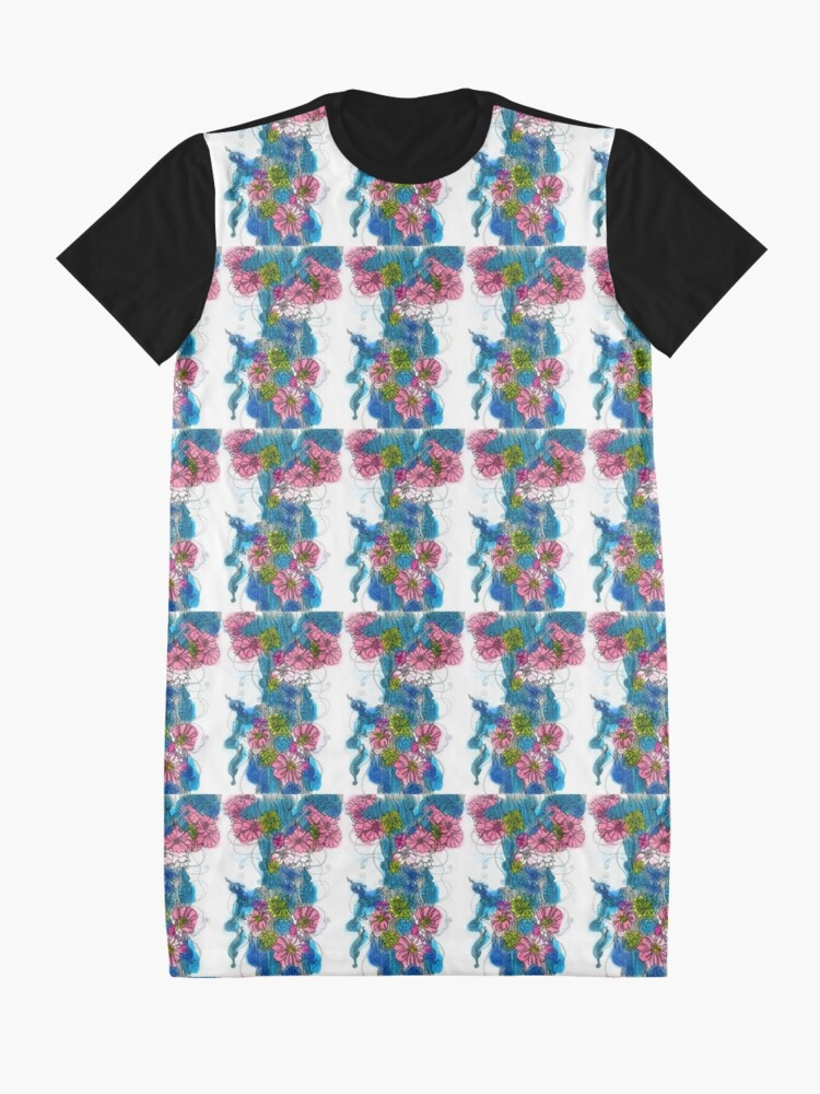 Alternate view of Spring Bloom Graphic T-Shirt Dress