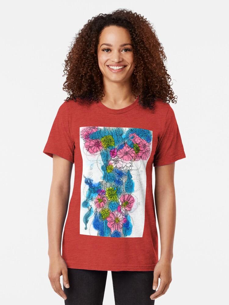 Alternate view of Spring Bloom Tri-blend T-Shirt