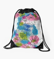 Spring Bloom Drawstring Bag