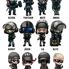 Rainbow Six Siege Chibis by STOANGaming