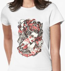 Exhale Womens Fitted T-Shirt
