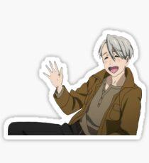 Heart Mouth Boy Sticker
