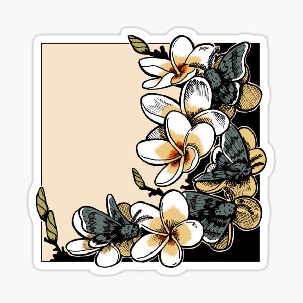 Motten mit Blumen Sticker