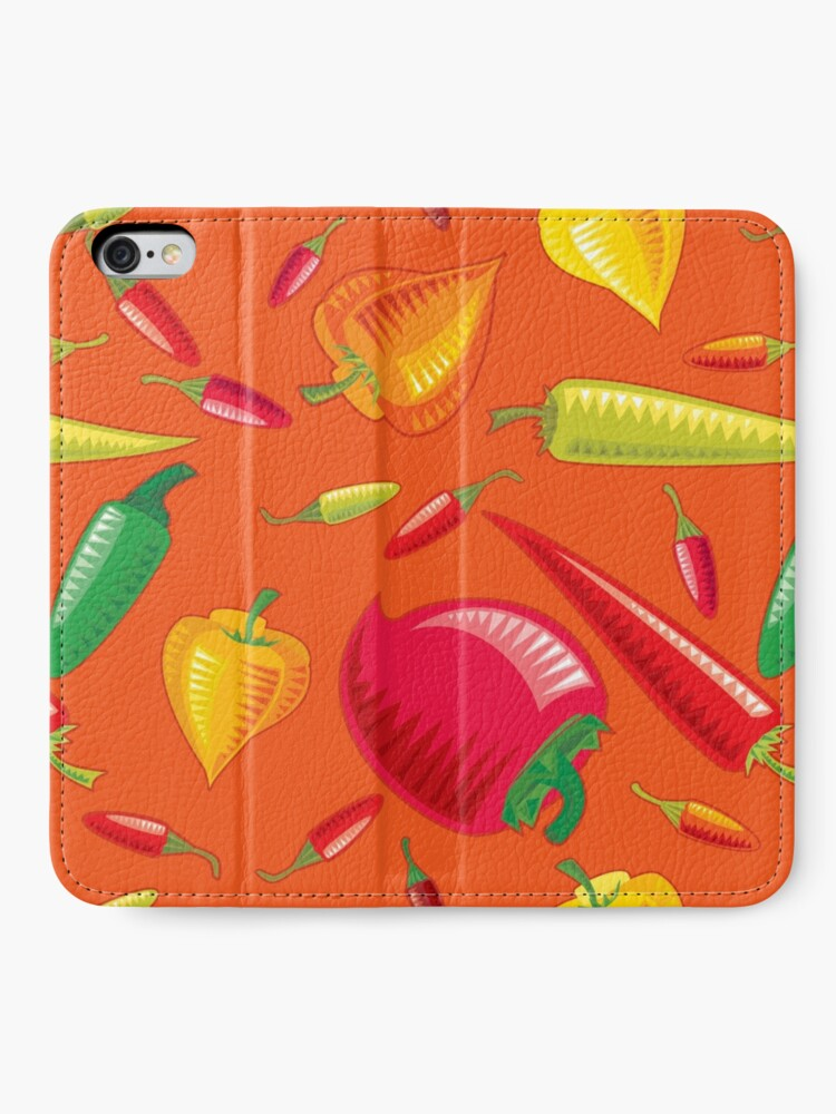 Alternate view of Hot Peppers iPhone Wallet