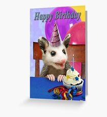 Birthday Opossum Grußkarte