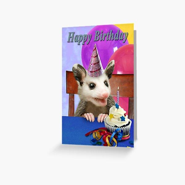 Birthday Opossum Greeting Card