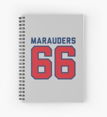 Marauders 66 Grey Jersey Spiral Notebook