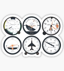 Basic Six Flight Instruments Sticker