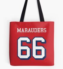 Marauders 66 Red Jersey Tote Bag