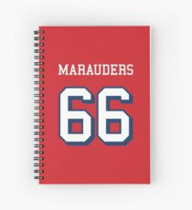 Marauders 66 Red Jersey Spiral Notebook