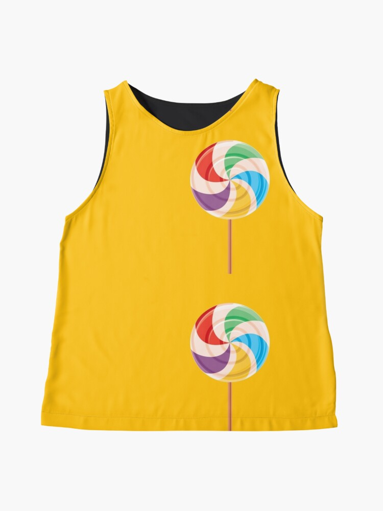 Alternate view of Colorful Lollypop on Yellow Sleeveless Top
