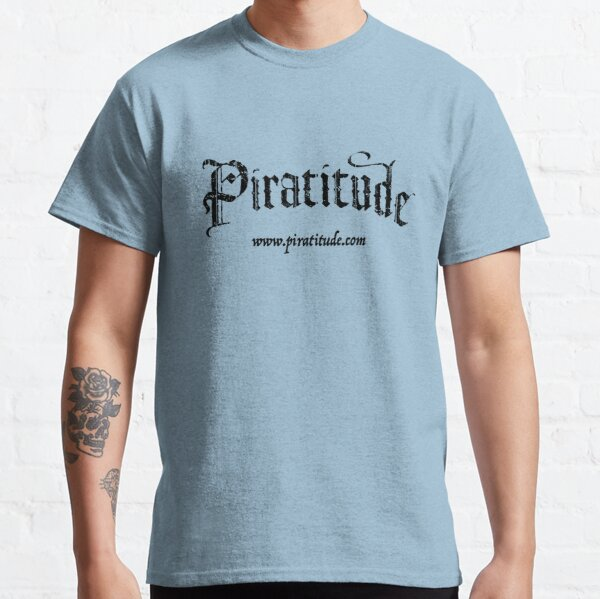 Pira'tee'tude Tees - Black Logo Classic T-Shirt