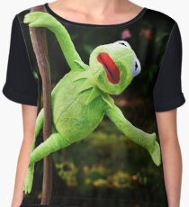 Kermit the frog on a pole Chiffon Top