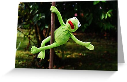 Kermit the frog on a pole greeting cards by cksplash redbubble kermit the frog on a pole by cksplash m4hsunfo