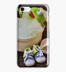 Kermit having a bath iPhone Case/Skin