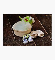 Kermit having a bath Photographic Print