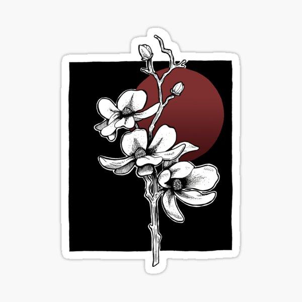 Magnolienblüten Illustration Sticker