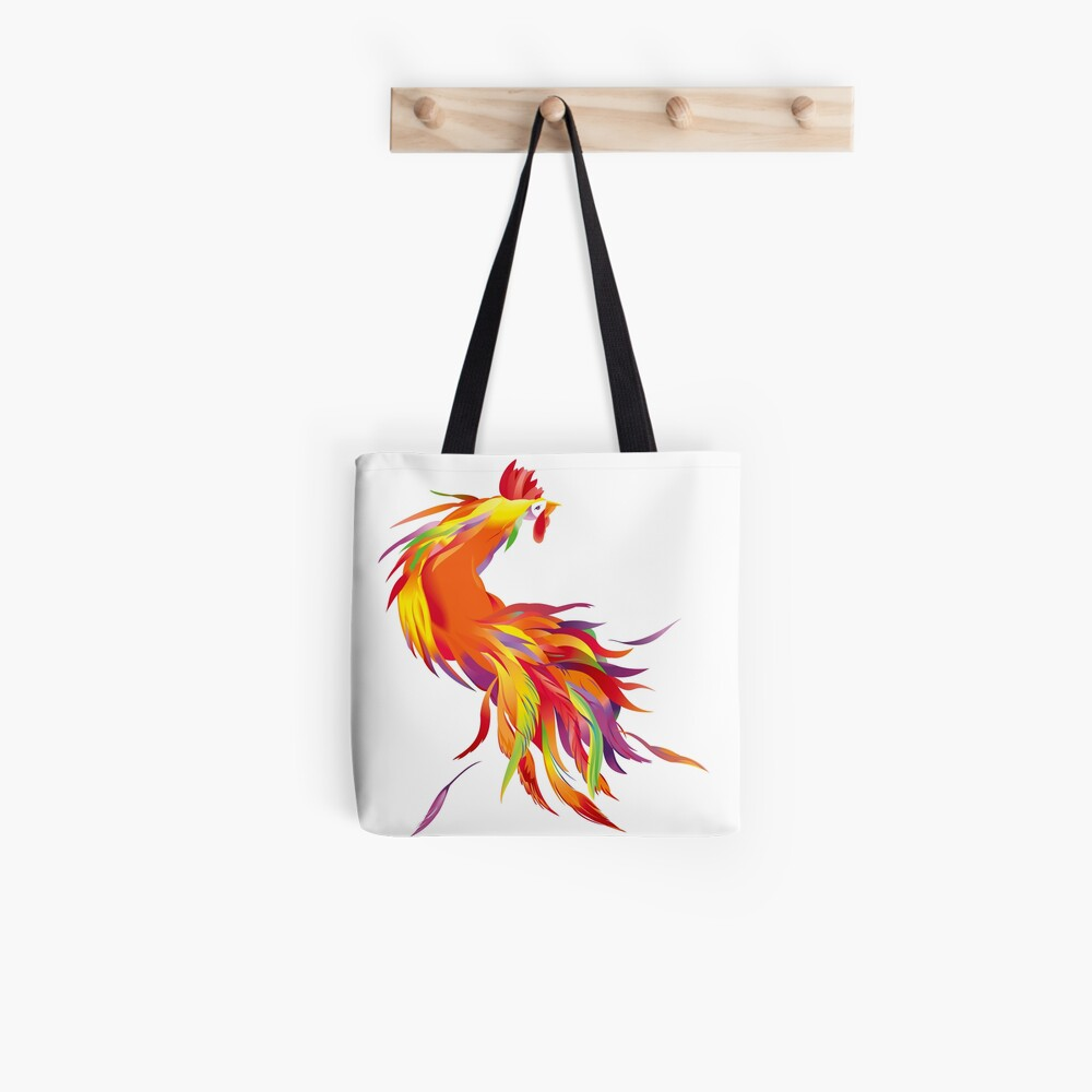 Red Cock Tote Bag