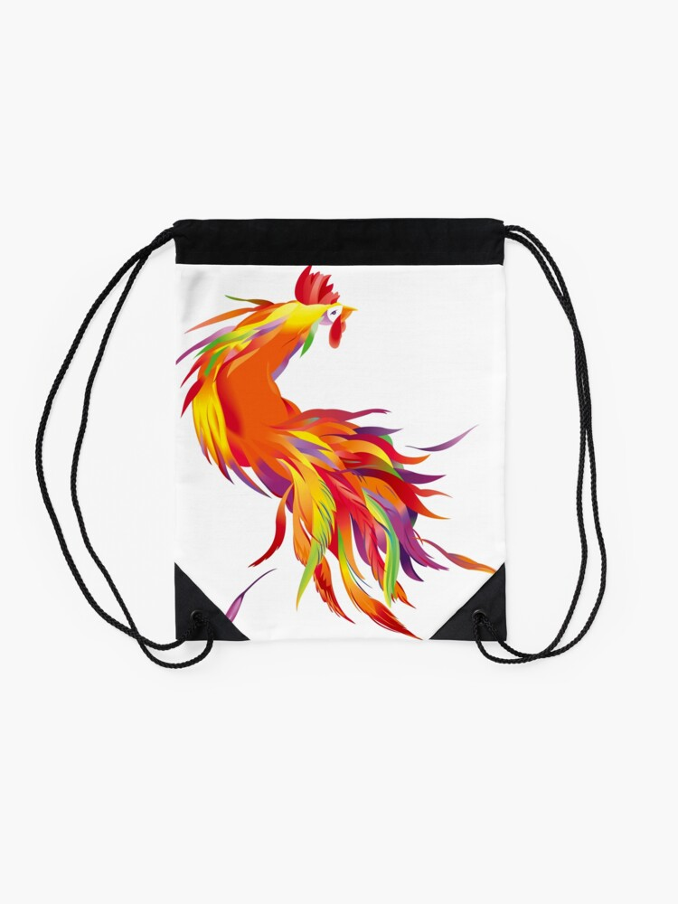 Alternate view of Red Cock Drawstring Bag