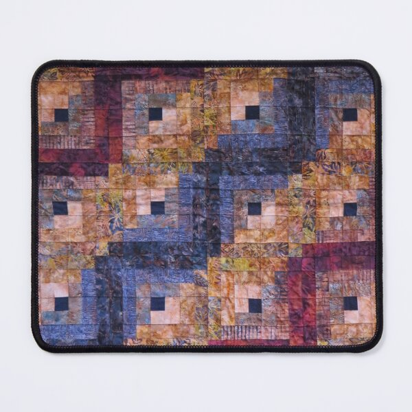 """""""Autumn Leaves"""" Log Cabin Quilt Mouse Pad"""