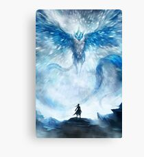 The First Bird - Ice Canvas Print