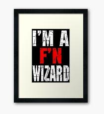 F'N Wizard Framed Print