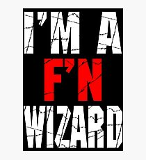 F'N Wizard Photographic Print
