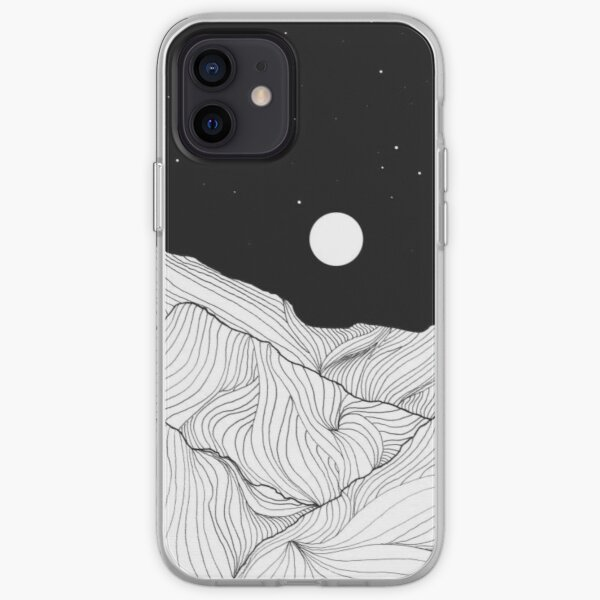 Lines In The Mountains Art iPhone Soft Case
