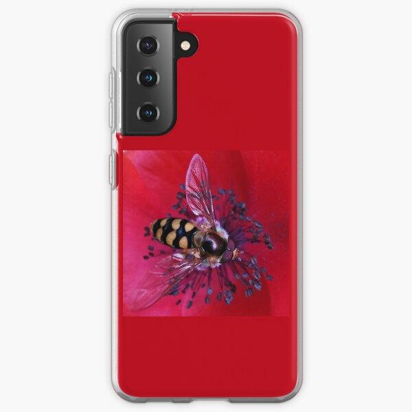 Hoverfly on a Poppy.  Samsung Galaxy Soft Case
