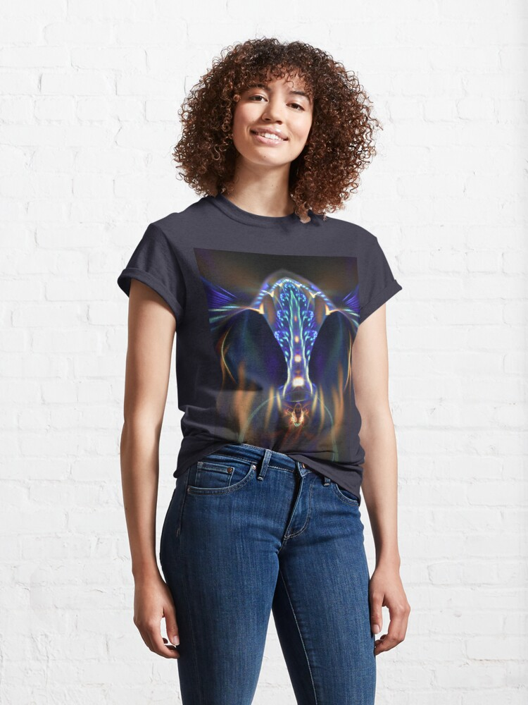 Alternate view of Extraterrestrial life #fractal art Classic T-Shirt