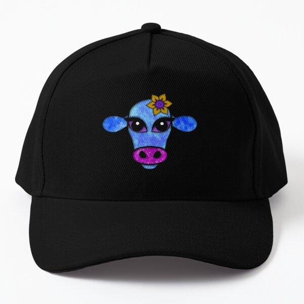 Elsa - quirky cow portrait Baseball Cap