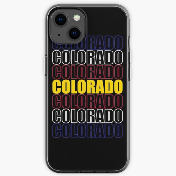 Colorado Text Flag on Black iPhone Soft Case