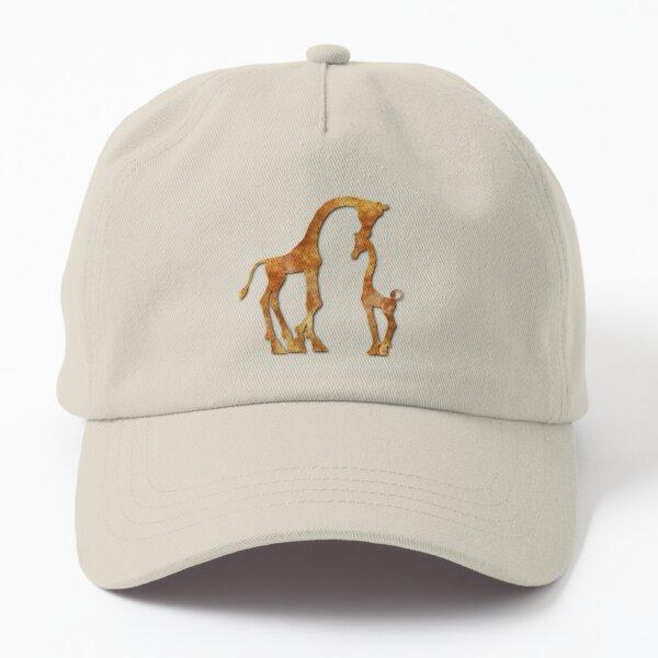 Giraffes silhouette Dad Hat