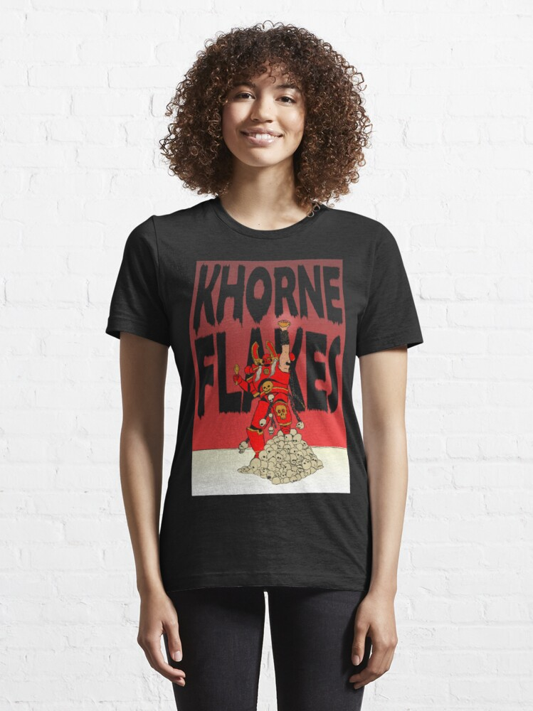 Alternate view of CHAOS KHORNE FLAKES Essential T-Shirt