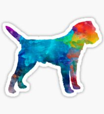 Border Terrier in watercolor Sticker