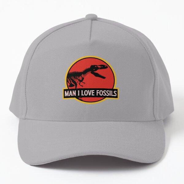 Man I Love Fossils   Dinosaur   Jurassic Baseball Cap