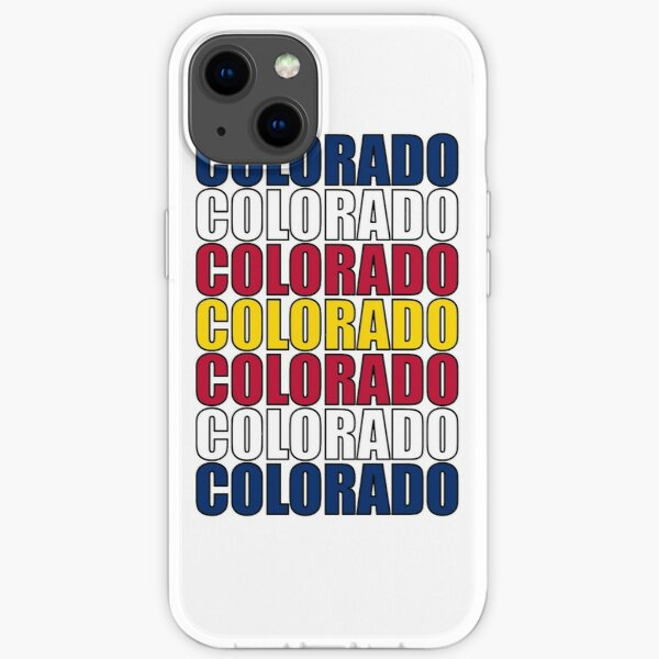 Colorado Text Flag iPhone Soft Case