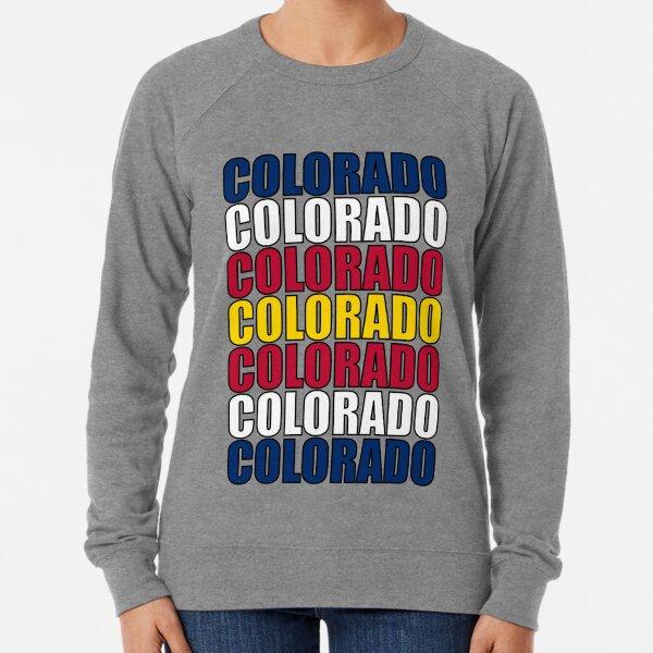 Colorado Text Flag Lightweight Sweatshirt