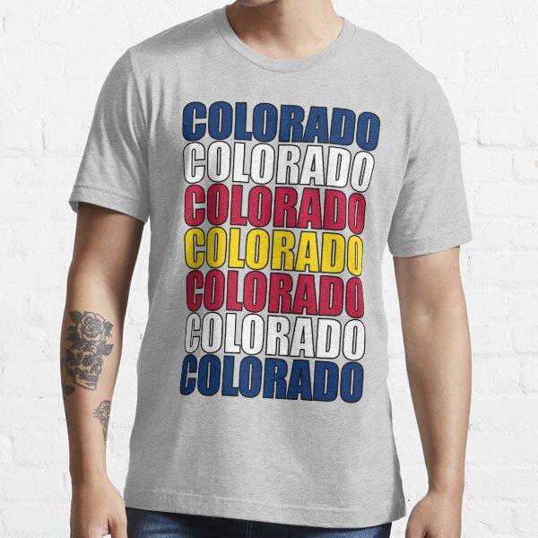 Colorado Text Flag Essential T-Shirt