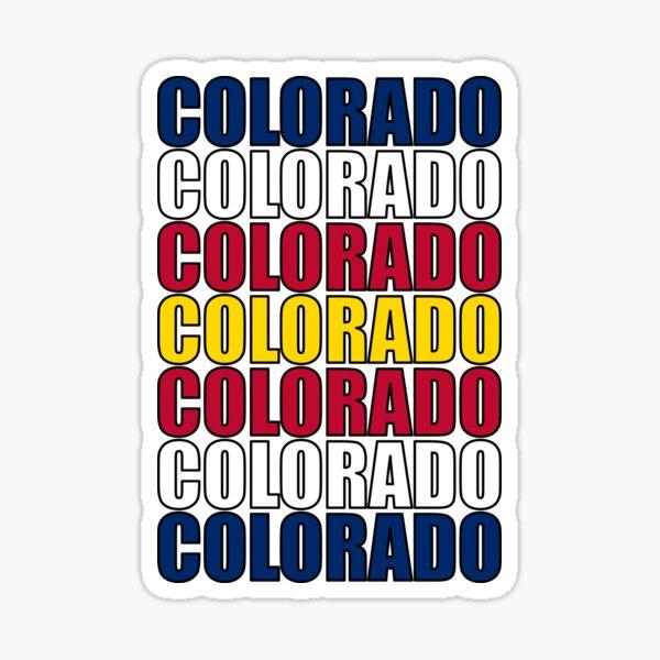 Colorado Text Flag Sticker