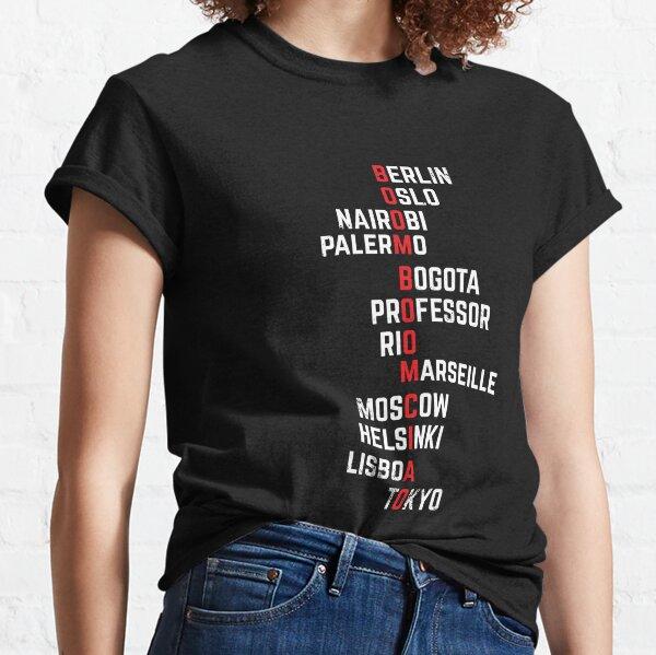 Boom boom Ciao Money Heist Funny Acronim Classic T-Shirt