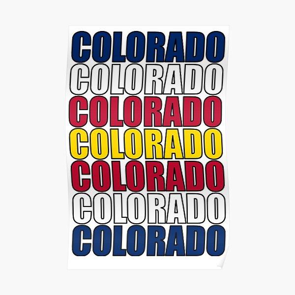 Colorado Text Flag Poster