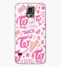 ZWEI Doodle-Muster Hülle & Klebefolie für Samsung Galaxy