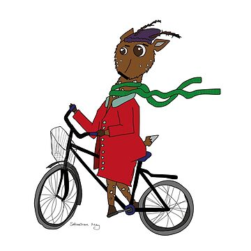 Diego the Deer Rides his Bicycle by sebastianmay