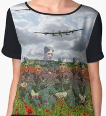 A Tribute To The Dambusters 617 Squadron Crews 1943 Women's Chiffon Top