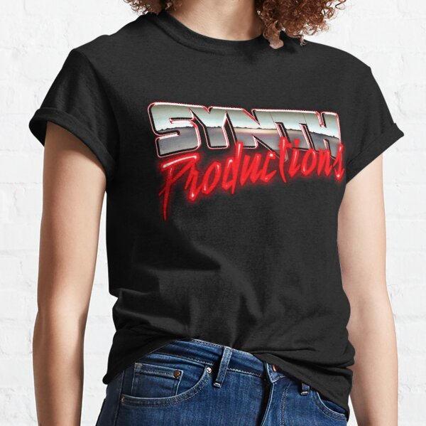 "Chrome Synthwave Logo ""Synth Productions"" Classic T-Shirt"