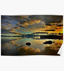 Golden Mirror of Nature Poster